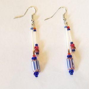 Handmade Porcupine Quill Earrings Millefiori Beads